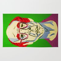 larry Area & Throw Rugs featuring Larry David 2 by Alyssa Underwood Contemporary Art