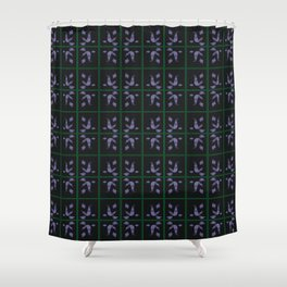 CVPA0033 Artsy Leila Purple Shower Curtain
