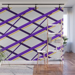 Deco Stripes Purple Wall Mural