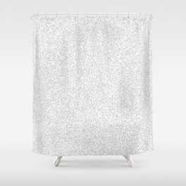 Spacey Melange - White and Light Gray Shower Curtain