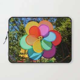 Rainbow Wind Spinner Laptop Sleeve