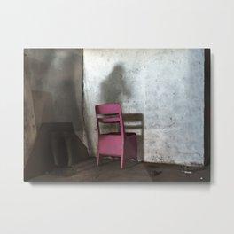 Impasse - Chair Metal Print