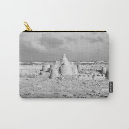 Sandcastle in Black & White Carry-All Pouch