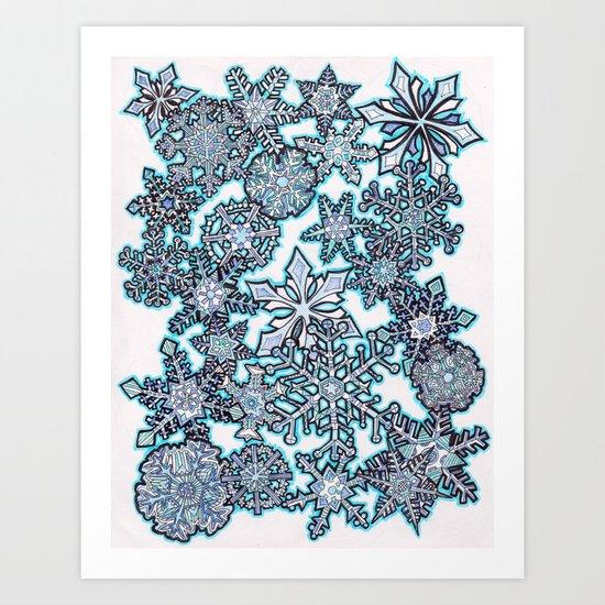 Gentle Snowstorm Art Print