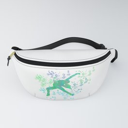 Figure Skater  Watercolor Design Style 2 Fanny Pack