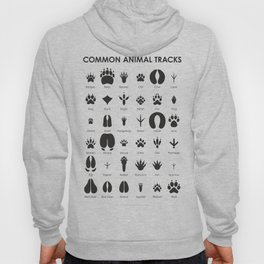 Common Animal Tracks Hoody