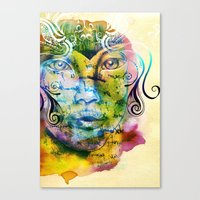 fairy tale Canvas Prints featuring Fairy Tale by Irmak Akcadogan