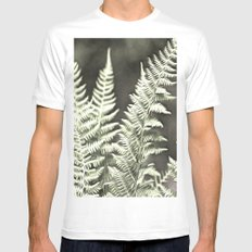 Fantasy Feather Like Fern MEDIUM White Mens Fitted Tee