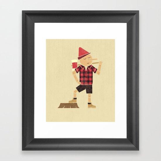 Wrong Guy For The Job Framed Art Print