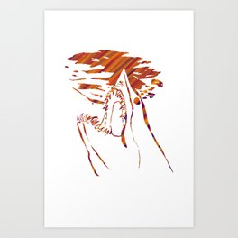 transparent red mako shark Art Print