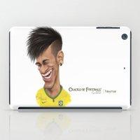 brazil iPad Cases featuring Neymar - Brazil by Sant Toscanni