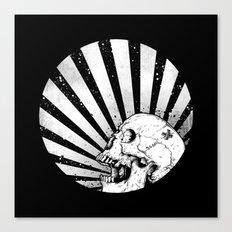 Kamikaze Skull Canvas Print