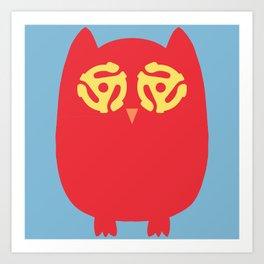 Owl 45s Art Print