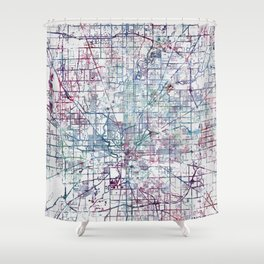 Indianapolis map Shower Curtain