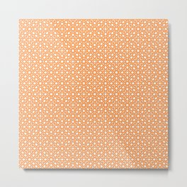 Orange Lattice Metal Print