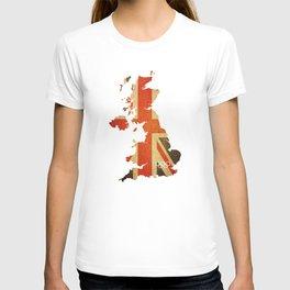 Union Jack Map - Olympics London 2012 T-shirt