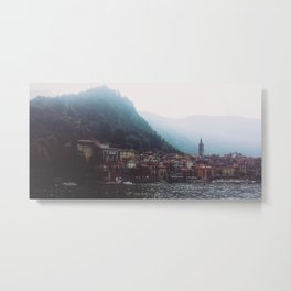 Misty Lake Metal Print