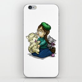 Playing And Cuddling With Cats iPhone Skin
