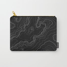 Black topography map Carry-All Pouch
