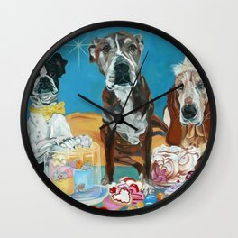 The Last Dessert Dog Portrait Wall Clock