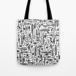 Horns B&W II Tote Bag