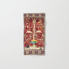 Silk Heriz Azerbaijan Northwest Persian Rug Print Hand & Bath Towel