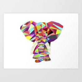 Emil Elephant Art Print