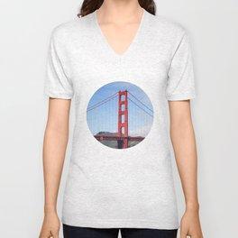 San Francisco, Golden Gate Bridge Unisex V-Neck