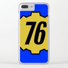 Vault 76 Clear iPhone Case