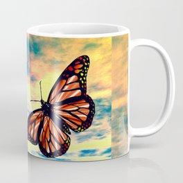 Flying Monarch Butterflies Coffee Mug