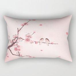 Oriental cherry blossom in spring 005 Rectangular Pillow