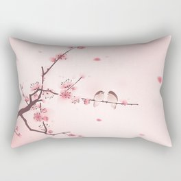 Oriental cherry blossom in spring 005 Rectangular Pillow