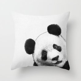 peekaboo panda Throw Pillow