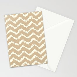 Ragged Chevron - Taupe/Cream Stationery Cards