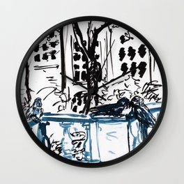 Lost Parrots Wall Clock