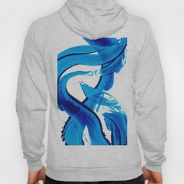 Pure Water 302 - Blue Abstract Art By Sharon Cummings Hoody