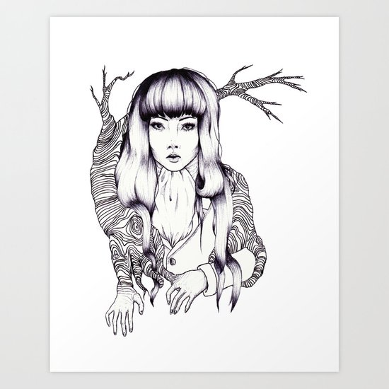 Tree Woman Art Print