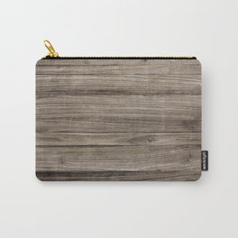 Rustic Brown Wooden Texture Background Carry-All Pouch