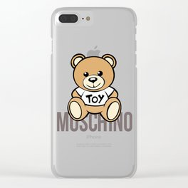 Moschino Toy Clear iPhone Case