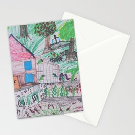Place of Love, loving the nature - Handmade from Pascal   (A7 B0238) Stationery Cards