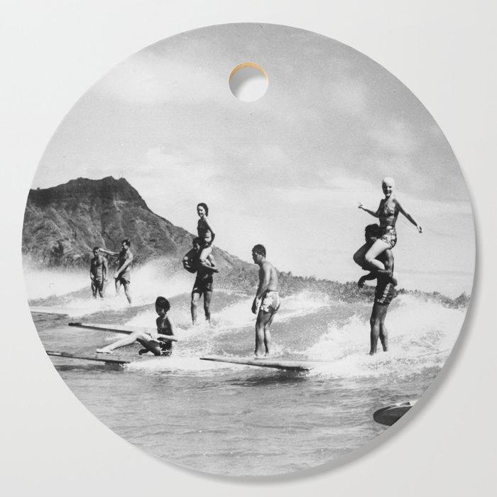 Vintage Hawaii Tandem Surfing Cutting Board