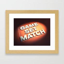 Game Set Match Framed Art Print