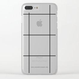 White Grid  /// www.pencilmeinstationery.com Clear iPhone Case