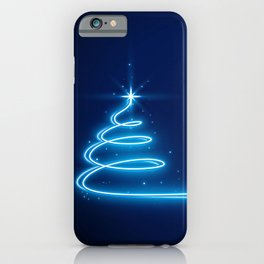 Neon Glow Christmas Tree iPhone Case