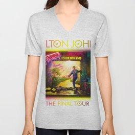 ELTON - FAREWELL YELLOW BRICK ROAD TOUR 2020 AUS,US Unisex V-Neck