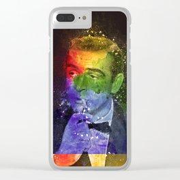 Sean Connery retro art Clear iPhone Case