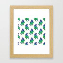 tri crows greeny Framed Art Print