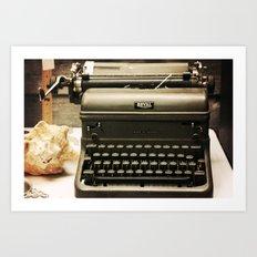 You never write... Art Print