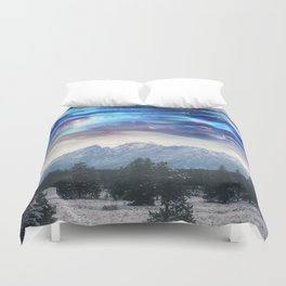 Abstract Landscape | Abstract Space | Mountains | Surreal Landscape | Surreal Sky Duvet Cover