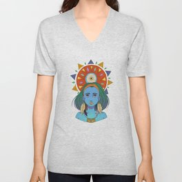 LOOK AT THE SUN Unisex V-Neck